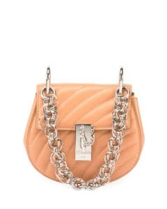 Chloe Blush Quilted Mini Drew Bijou Bag