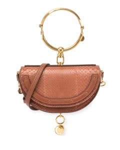 Chloe Brown Python Nile Minaudiere Bag