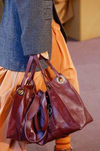 Chloe Burgundy Tote Bag - Fall 2018