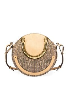 Chloe Gold Sequined Small Pixie Bag