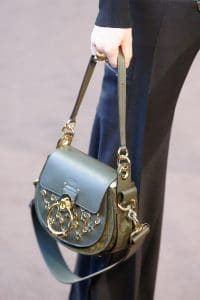 Chloe Green Embellished Saddle Bag - Fall 2018
