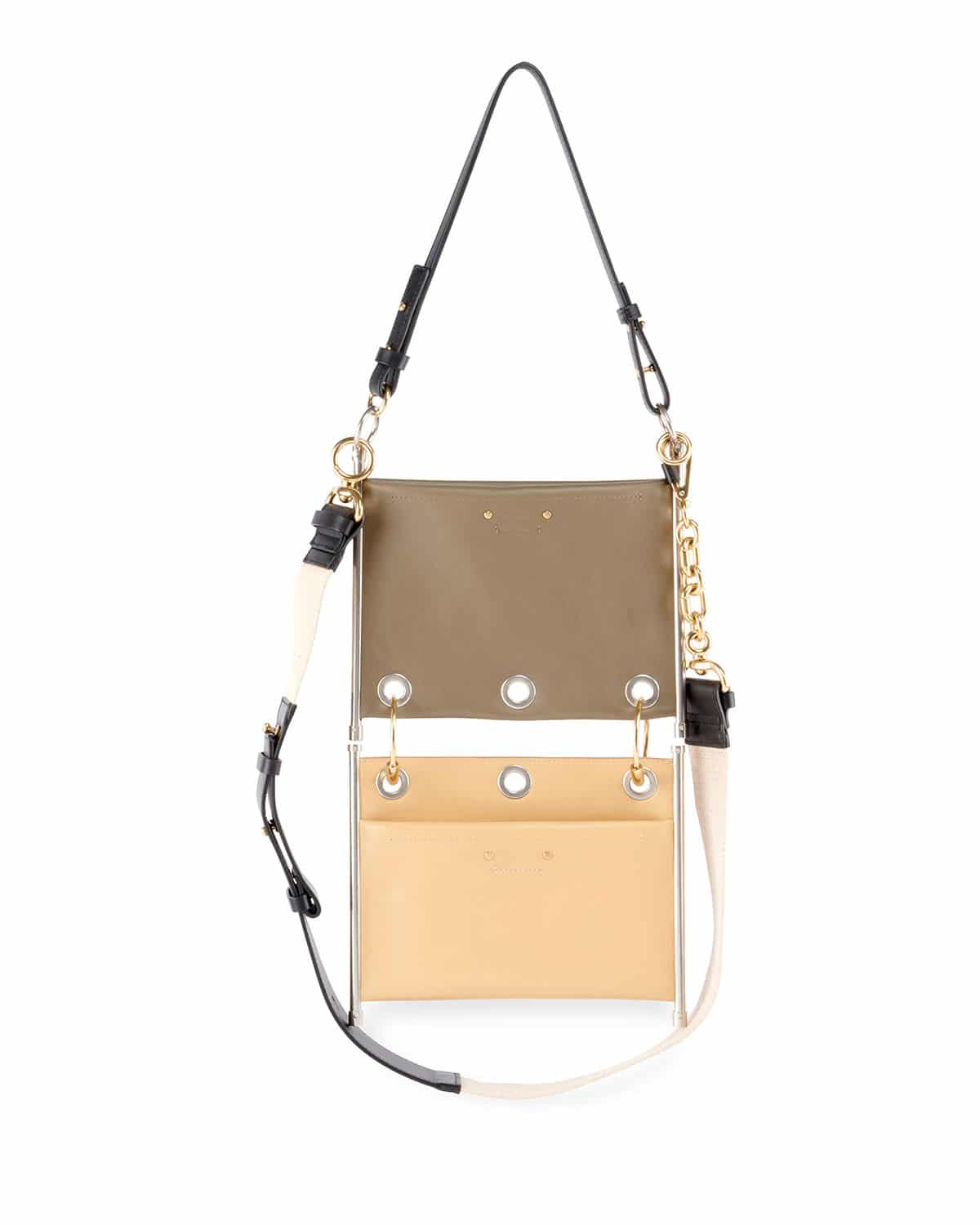 d2d7228afcfa Chloe Roy Mini Leather suede Double-zip Shoulder Bag