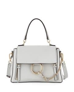 Chloe Light Gray Faye Day Bag