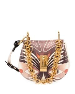 Chloe Multicolor Animal Print Drew Bijou Bag