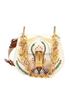 Chloe Multicolor Printed Drew Bijou Bag
