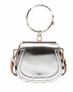 Chloe Silver Small Nile Bracelet Bag