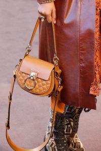Chloe Tan Studded Saddle Bag - Fall 2018