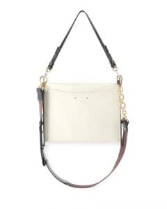 Chloe White Roy Clutch Bag