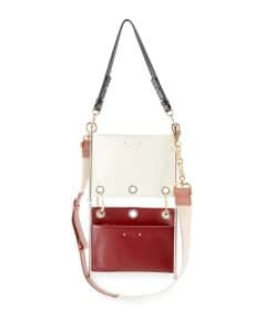 Chloe White/Red Roy Double Clutch Bag