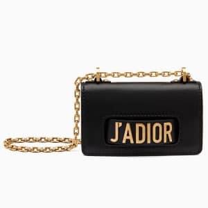 Dior Black J'adior Mini Flap Bag