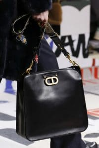 Dior Black Leather Messenger Bag - Fall 2018