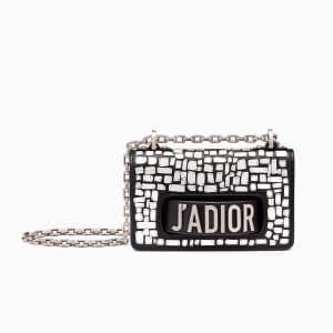 Dior Black Mosaic Embroidered Mini J'adior Flap Bag