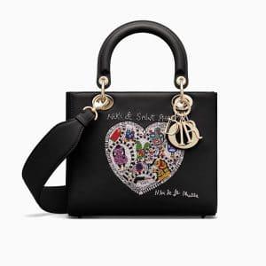 Dior Black Niki de Saint Phalle - Bonn Embroidered Lady Dior Bag