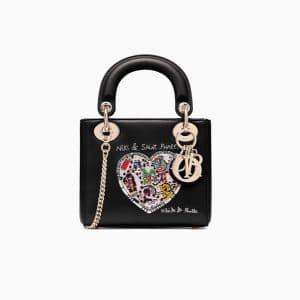 Dior Black Niki de Saint Phalle - Bonn Embroidered Mini Lady Dior Bag