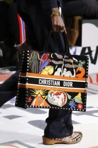 Dior Black Printed Book Tote Bag - Fall 2018