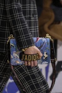 Dior Blue Embroidered J'adior Flap Bag 2 - Fall 2018