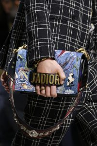 Dior Blue Embroidered J'adior Flap Bag - Fall 2018