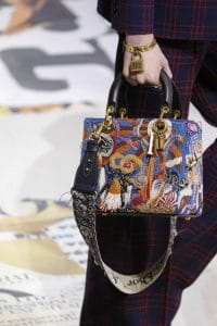 Dior Blue Multicolor Embroidered Lady Dior Bag 2 - Fall 2018