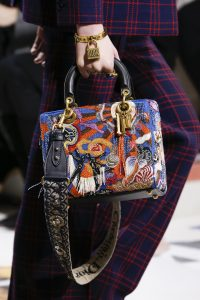 Dior Blue Multicolor Embroidered Lady Dior Bag - Fall 2018