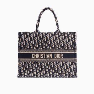 Dior Blue Oblique Canvas Book Tote Bag