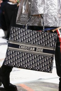 Dior Blue Oblique Print Book Tote Bag - Fall 2018