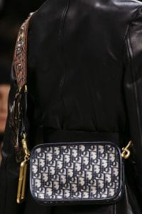 Dior Blue Oblique Print Camera Bag - Fall 2018