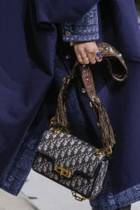 Dior Blue Oblique Print Flap Bag 2 - Fall 2018