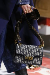 Dior Blue Oblique Print Flap Bag - Fall 2018
