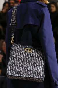 Dior Blue Oblique Print Messenger Bag - Fall 2018