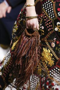 Dior Brown Fringe Mini Bag - Fall 2018