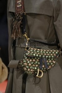 Dior Green Beaded Saddle Bag 2 - Fall 2018