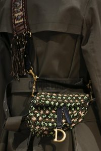 Dior Green Beaded Saddle Bag - Fall 2018