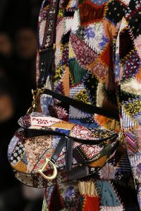 Dior Multicolor Patchwork Saddle Bag - Fall 2018