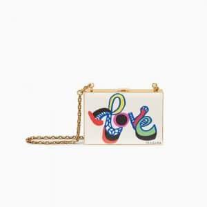 Dior Off-White Élément d'autocollant Print Minaudiere Bag