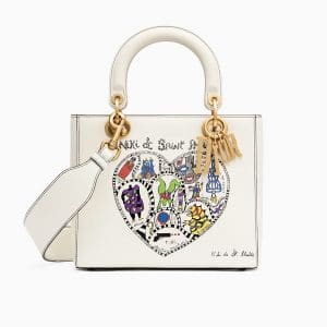 Dior Off-White Niki de Saint Phalle - Bonn Print Lady Dior Bag