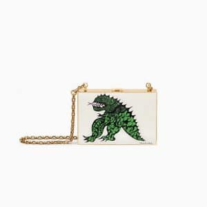 Dior Off White Tu es mon dragon Print Minaudiere Bag