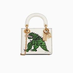 Dior Off-White Tu es mon dragon Print Mini Lady Dior Bag