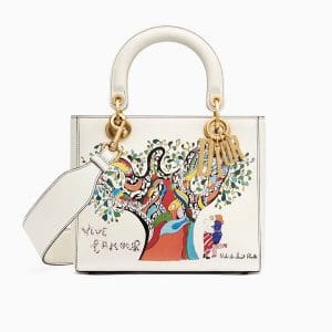 Dior Off-White Vive l'Amour Print Lady Dior Bag
