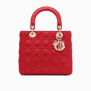 Dior Red Lady Dior Bag