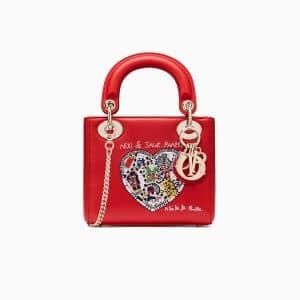 Dior Red Niki de Saint Phalle - Bonn Embroidered Mini Lady Dior Bag