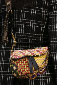 Dior Yellow Multicolor Beaded Saddle Bag - Fall 2018