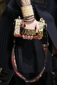 Dior Yellow Multicolor Embellished J'adior Flap Bag - Fall 2018