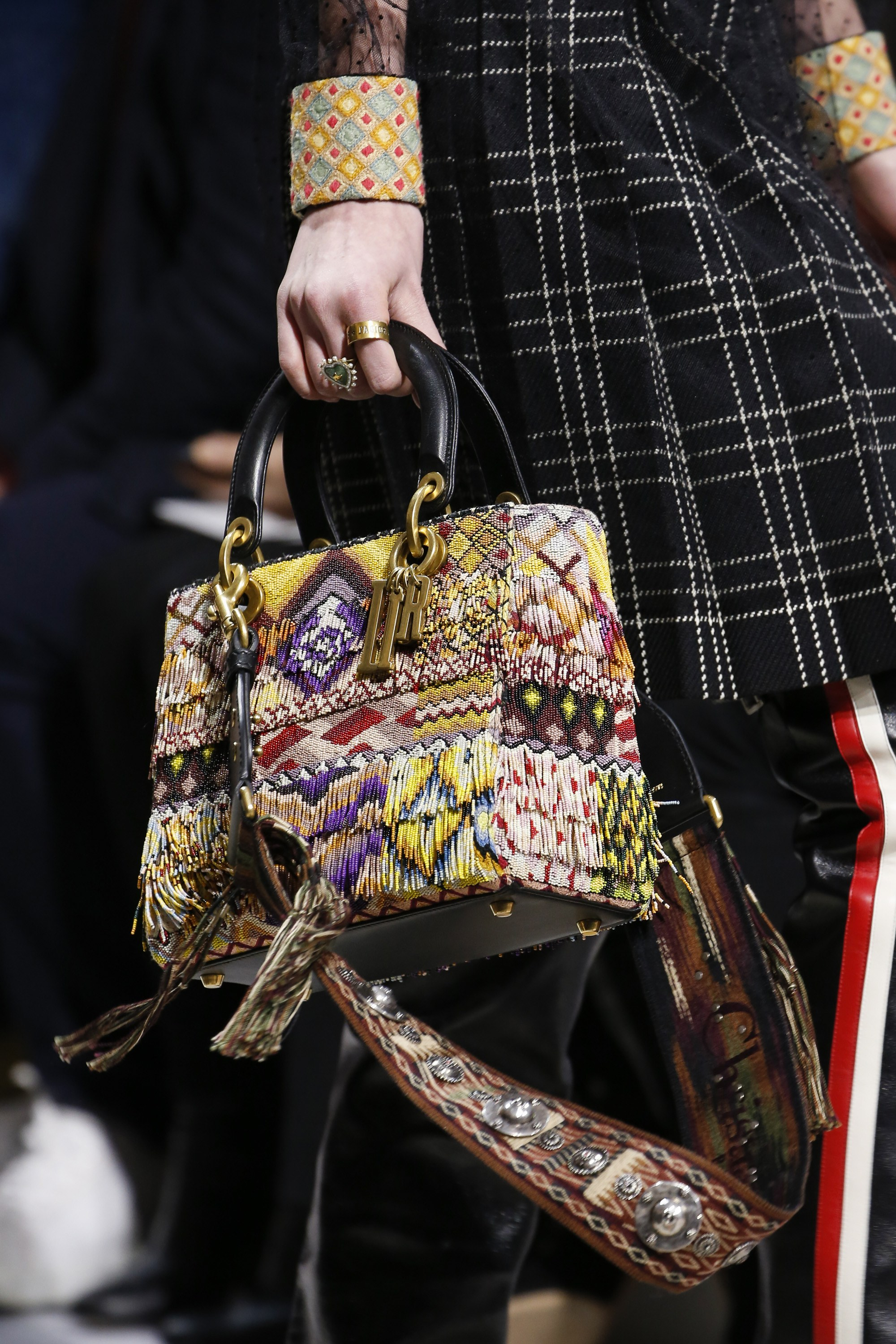 dior fallwinter 2018 runway bag collection featuring