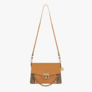 Givenchy Amber/Putty Leather/Suede GV3 Small Flap Bag
