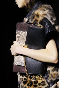 Givenchy Black/Brown Python GV3 Flap Bag - Fall 2018
