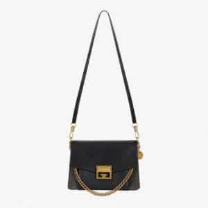 Givenchy Black/Gray Leather/Suede GV3 Small Flap Bag