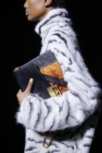 Givenchy Black/Gray Python GV3 Flap Bag - Fall 2018