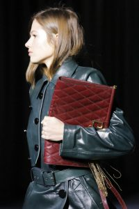Givenchy Burgundy Quilted Clutch Bag - Fall 2018