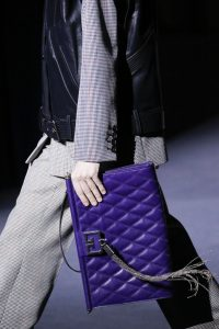 Givenchy Purple Quilted Clutch Bag - Fall 2018