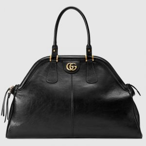 Gucci Black RE(BELLE) Large Top Handle Tote Bag